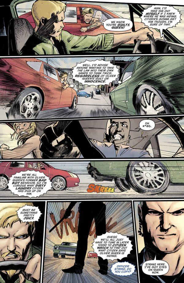 Green Arrow #44 art by Javier Fernandez and John Kalisz