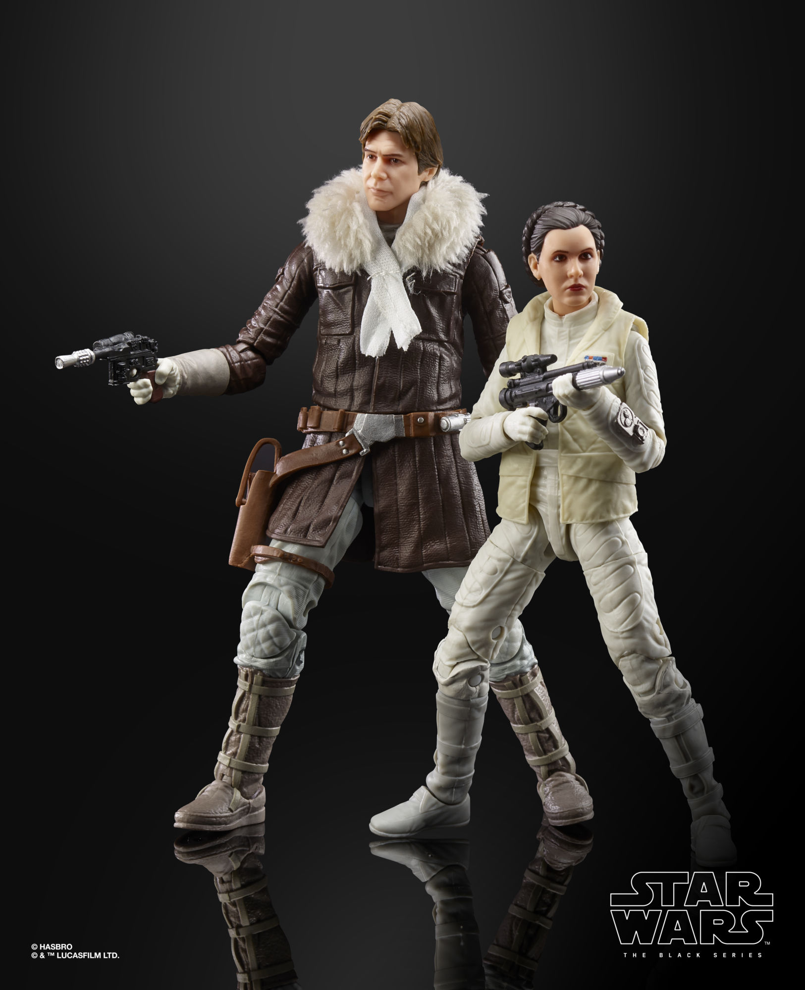 """STAR WARS THE BLACK SERIES HOTH LEIA /& HAN SOLO EXCLUSIVE 2 PACK IN HAND NEW 6/"""""""
