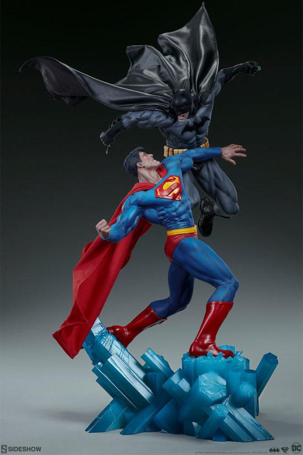 Superman Vs Batman Diorama Statue Sideshow 2