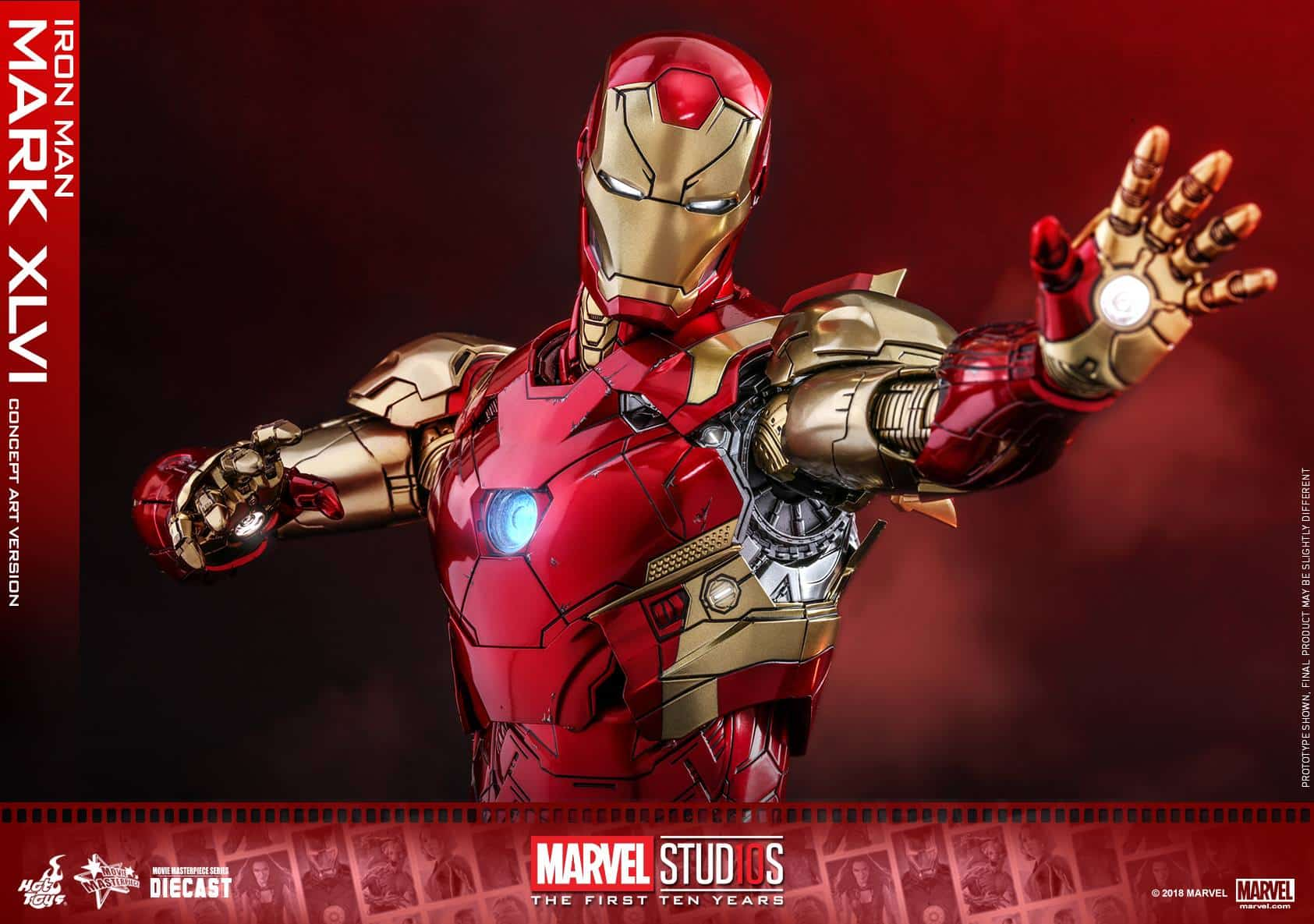 Hot Toys Marvel Studios 10th Anniversary Concept Iron Man Coming Soon - Bleeding...