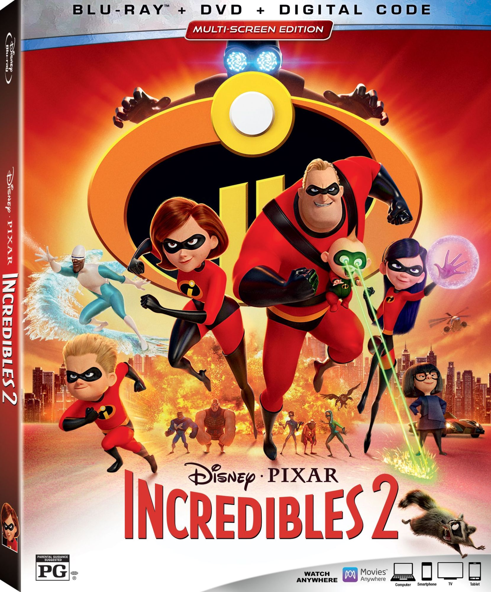 Here S What We Re Getting On The Incredibles 2 Dvd Blu Ray
