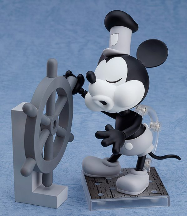 Mickey Mouse Steamboat Willie Nendoroid Figure B&W 2