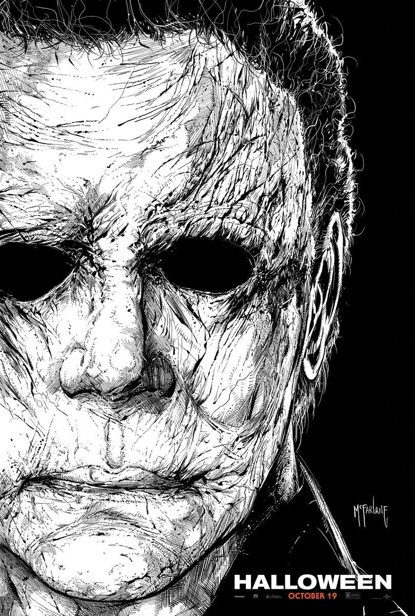 Todd Mcfarlane Halloween 2020 Todd McFarlane Draws a New Michael Myers Halloween Poster for NYCC