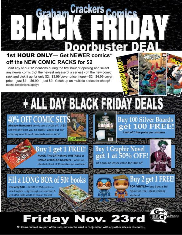 14 black friday comic store flyers have you sent yours in