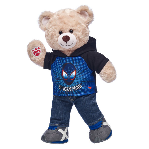 Build a Bear Spider-Verse Miles Hoodie Set 1