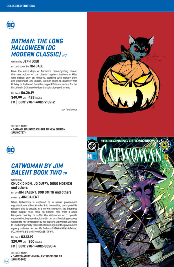 The Full Dc Comics Catalog For February 2019 Going Young