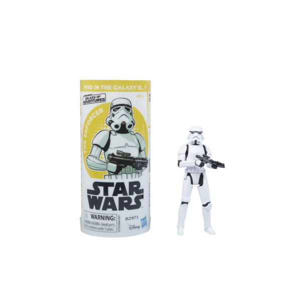 STAR WARS GALAXY OF ADVENTURES IMPERIAL STORMTROOPER Figure and Mini Comic (1)