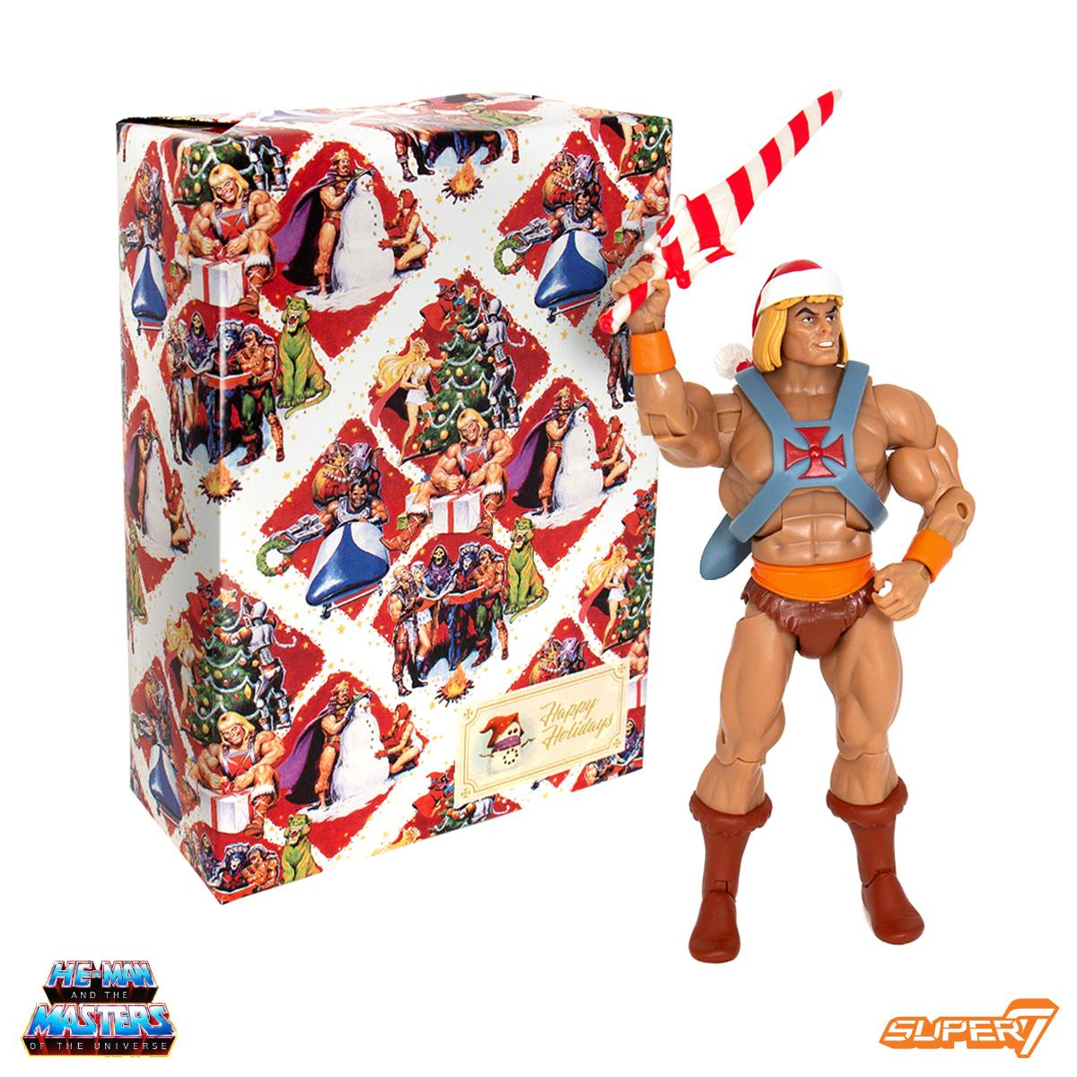 He Man Christmas Special.Masters Of The Universe Holiday He Man Figure From Super7
