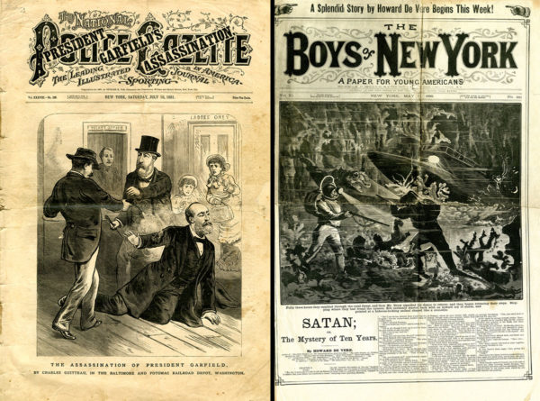 Police Gazette President Garfield Assassination; Boys of New York - Satan