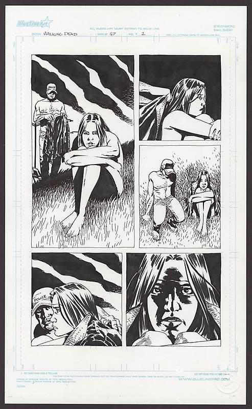 Comic Connect Walking Dead Art Page Auction #37