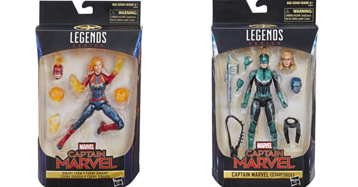LE CAPITAINE MARVEL légendes forme binaire 2019 Avengers Issue Wal-MART Exclusive