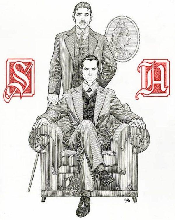 Frank Cho Draws Sherlock Holmes for the Baker Street Irregulars