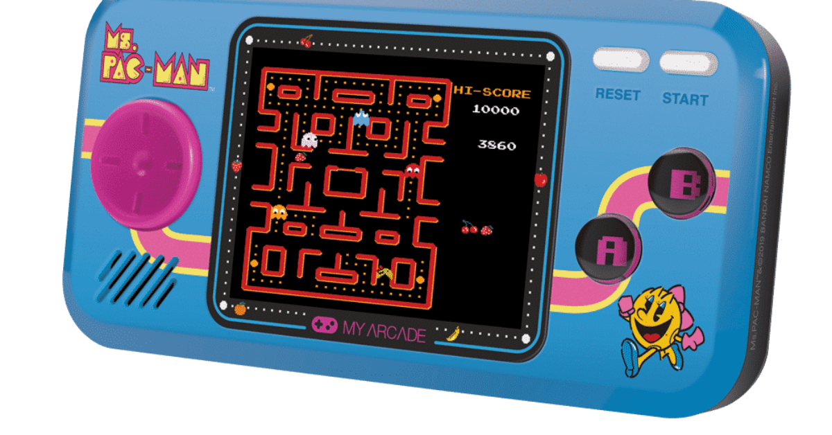 3 games My Arcade Official Ms PAC MAN Pocket Player Handheld Retro Video Game