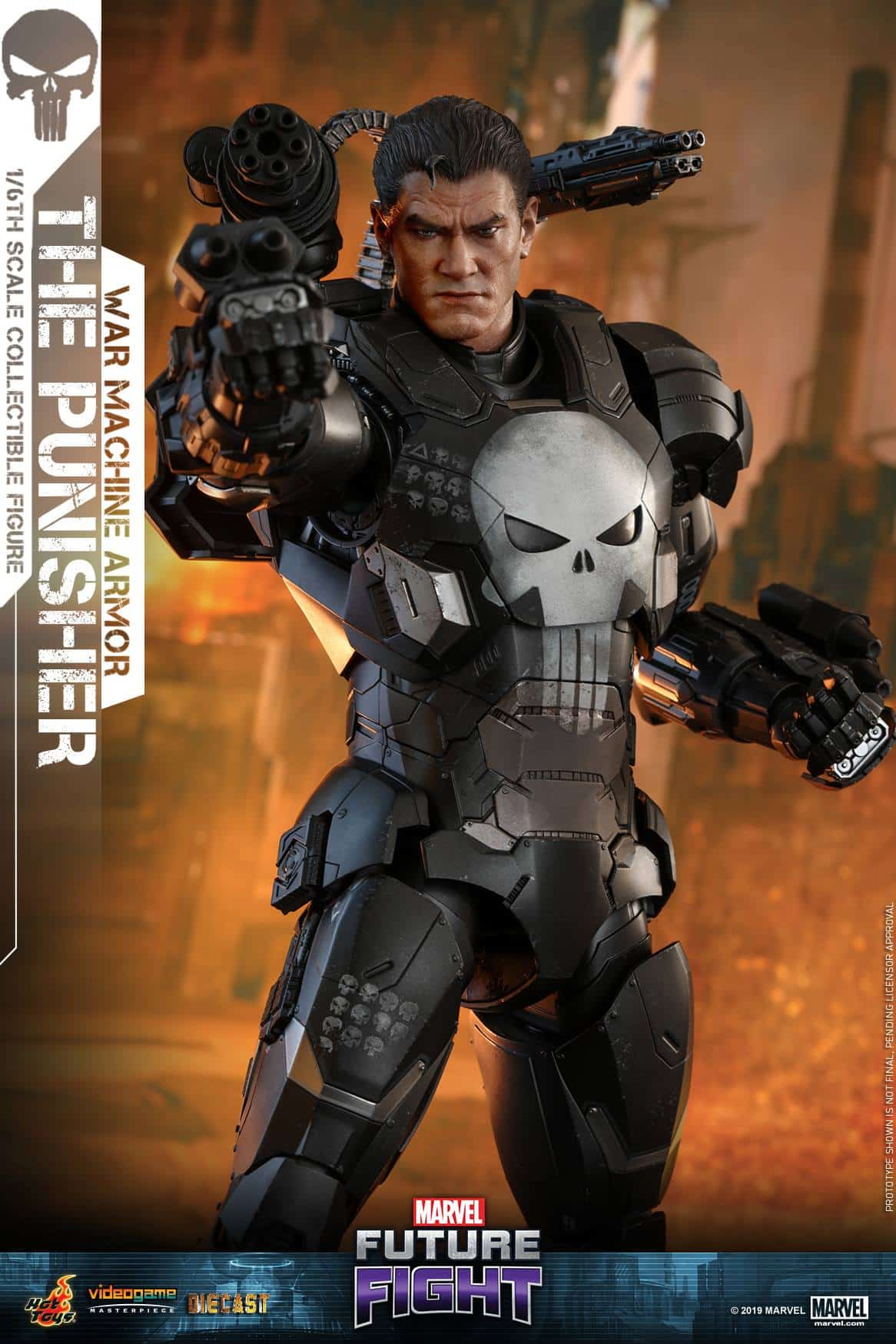 Surprising Hot Toys Announcement: Marvel Future Fight War Machine Punisher