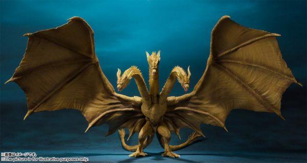SH MonsterArts Godzilla King Ghidorah 1
