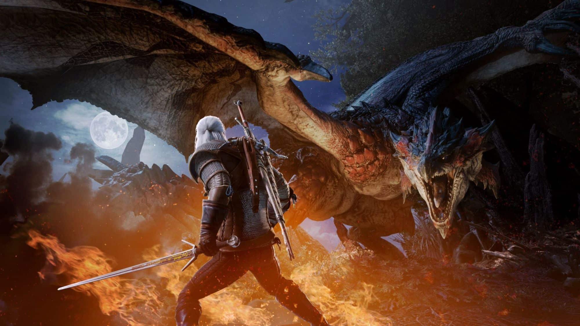 The Witcher's Geralt Joins Monster Hunter World Next Month