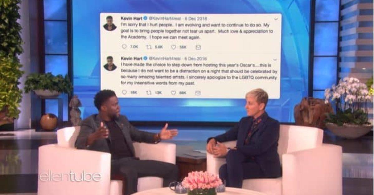 Oscars 2019: Ellen DeGeneres Pushing for Kevin Hart Return
