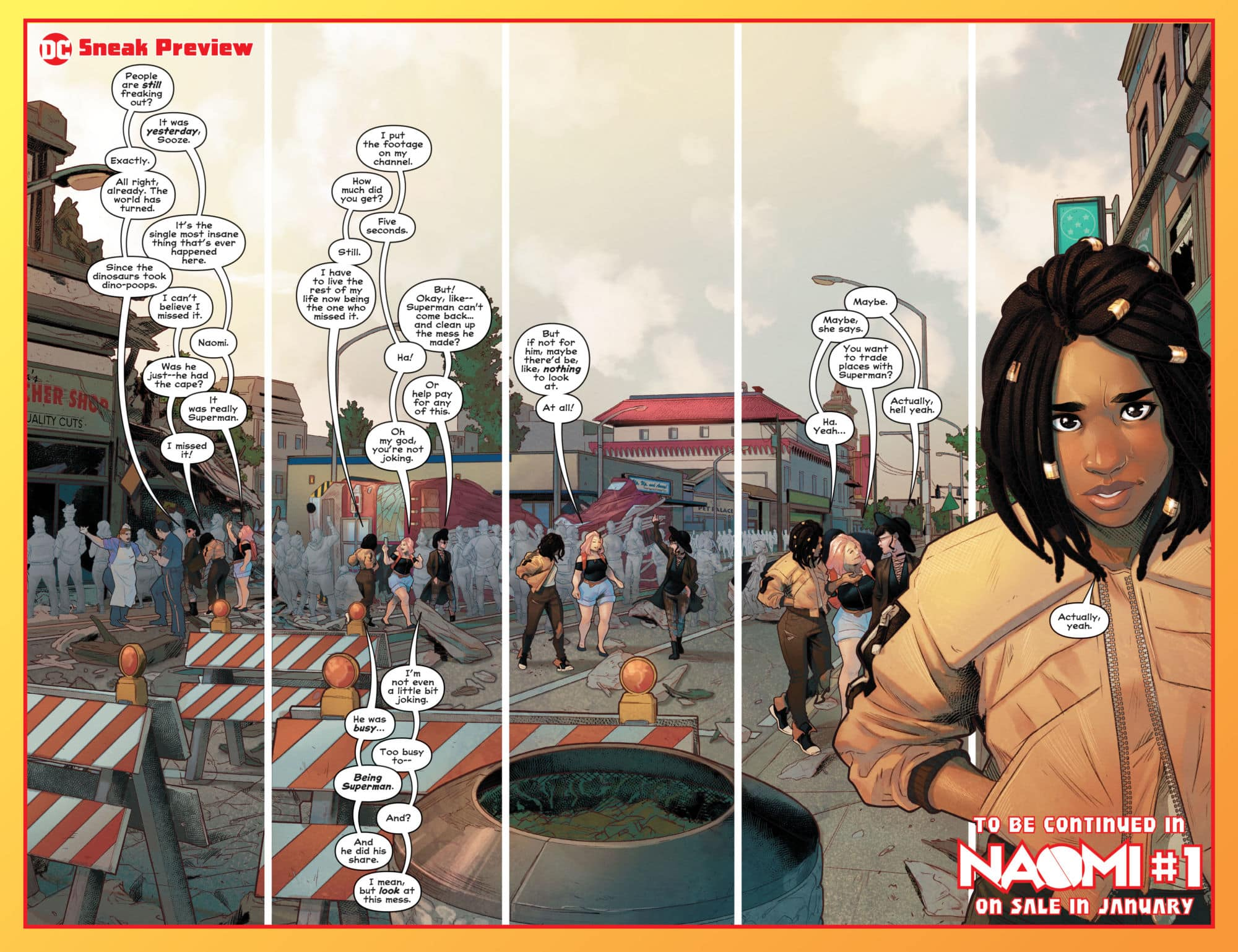 What If Bendis Wrote Damage Control?' - Preview of Naomi #1 in
