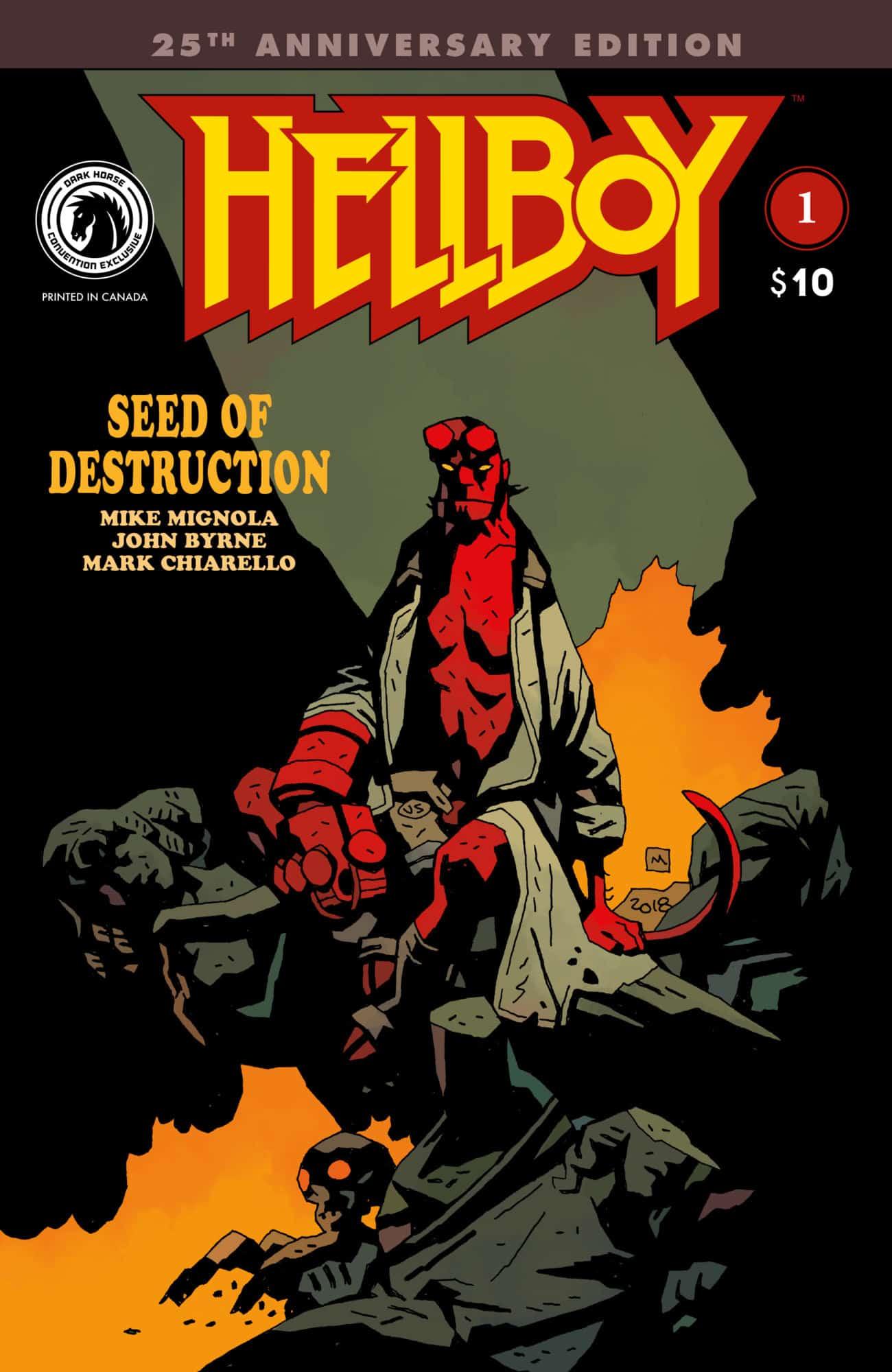 NM 2019, Dark Horse HELLBOY SEED OF DESTRUCTION #1 25th Anniversary Edition