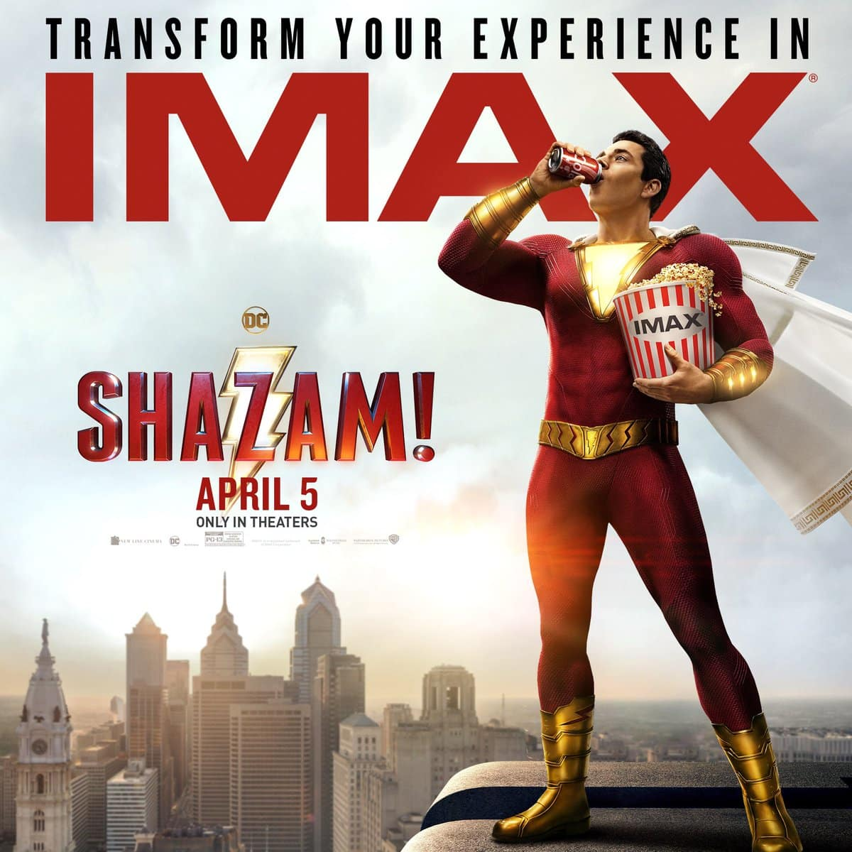 IMAX Shares New Exclusive Artwork for Shazam!