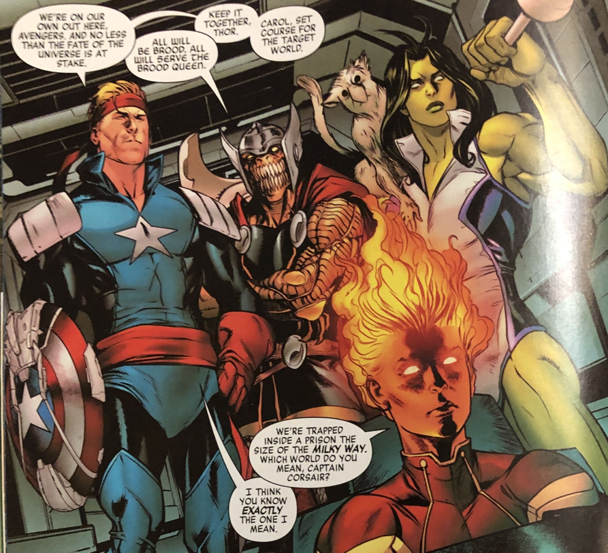 Captain America Goes Captain Kirk in Today's Avengers #27 – And is Thor Still Worthy? (Spoilers)