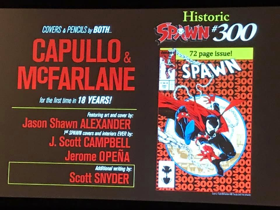 Scott Snyder, Greg Capullo, J Scott Cambell, Jerome Opena, Jason Shaw Alexander Join Spawn #300 With Todd McFarlane Drawing (Video)