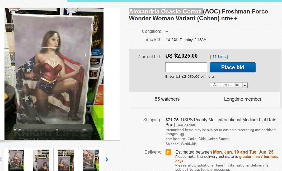 Wonder Woman AOC Variant Cover to Sell For Over $2000 - So Far