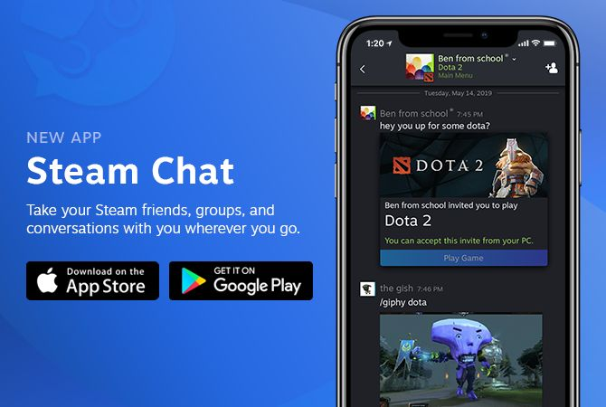Valve Releases a New Steam Chat Mobile App