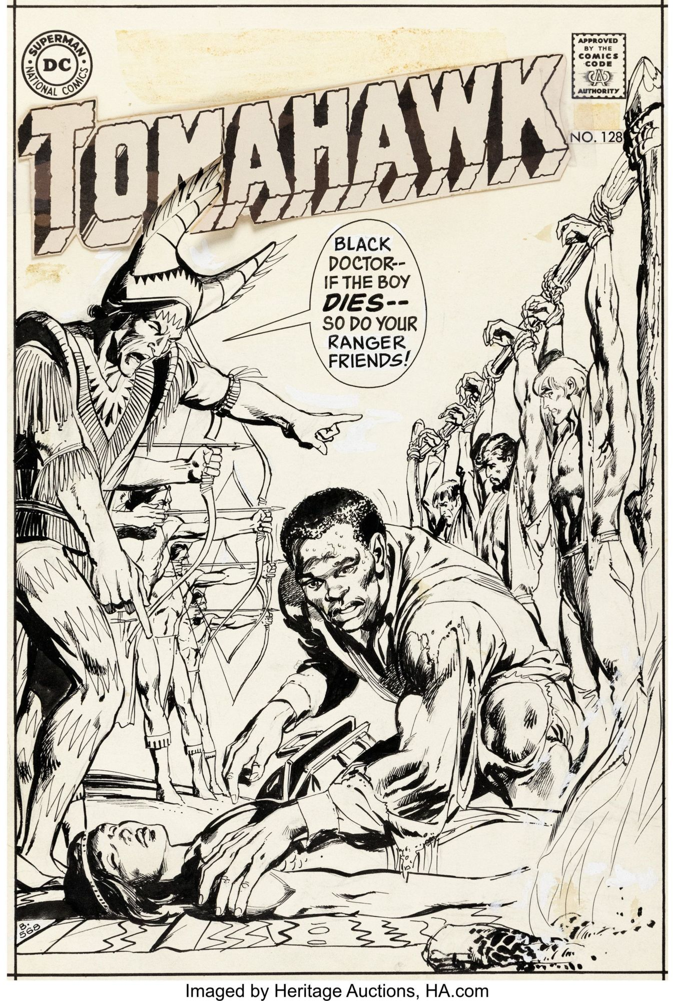 Neal Adams Tomahawk Cover From 1970 Sells for $17,500