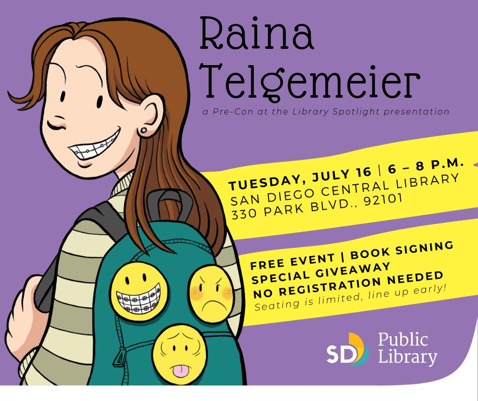 The Daily LITG, 16th July 2019 – An Evening With Raina Telgemeier