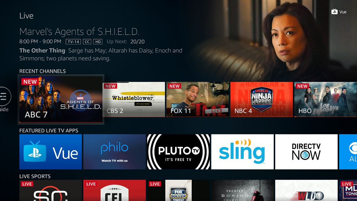 "Amazon's Fire TV Adds New ""Live TV"" Tab to Service"