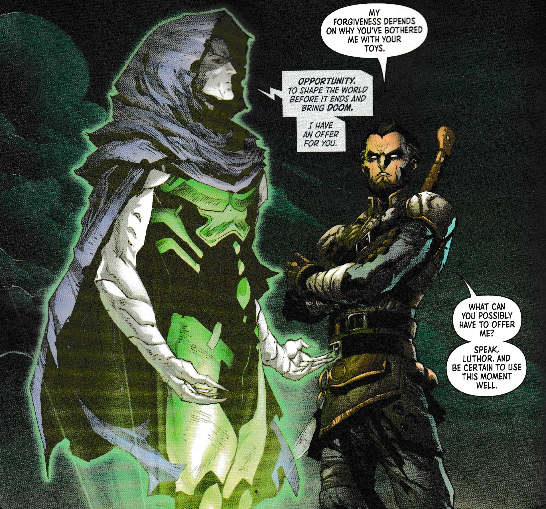 The Offers Being Made (Or Not) by Apex Lex in DC's Year of The Villain, Today (Spoilers)