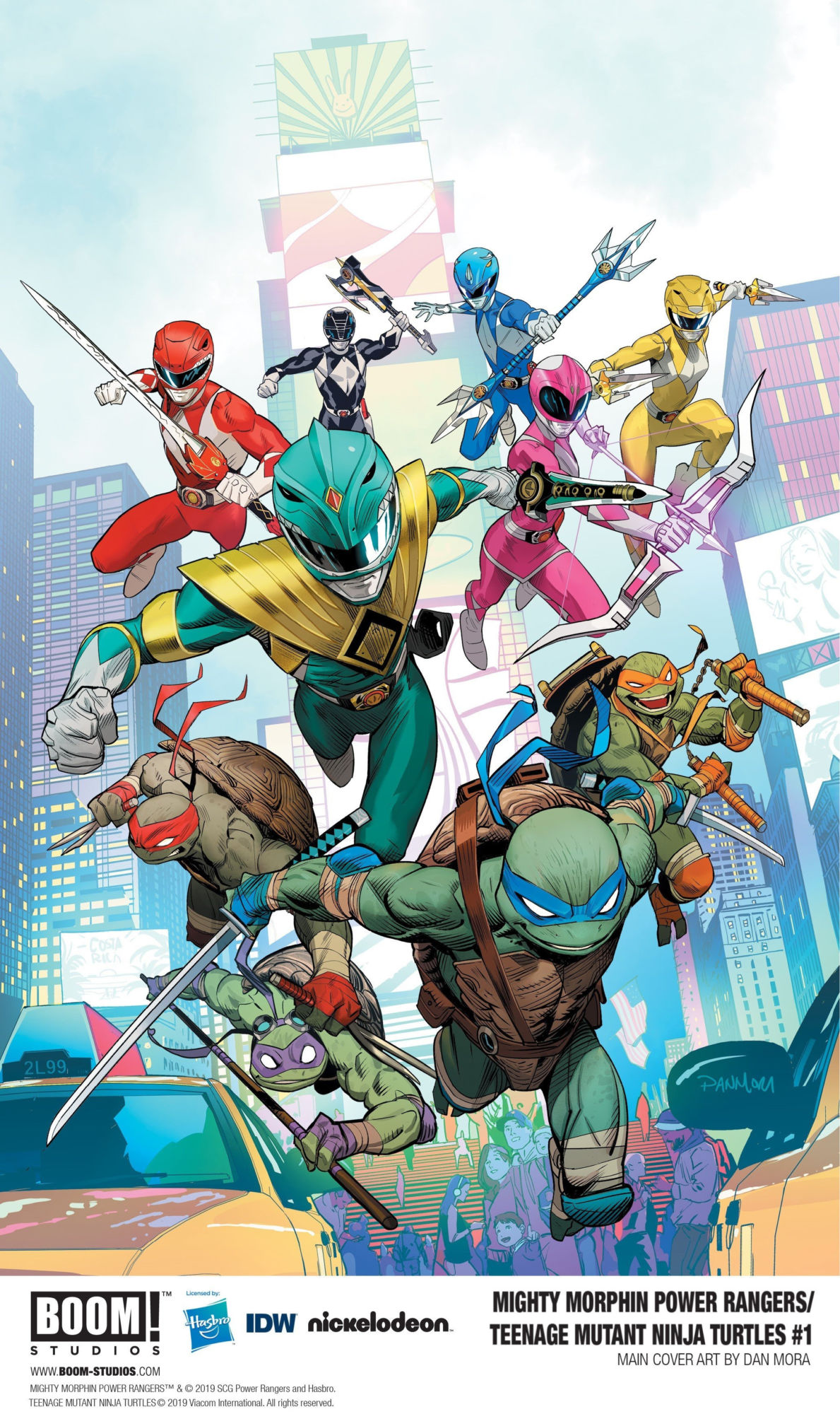 Power Rangers and TMNT Crossover in New Comic Book