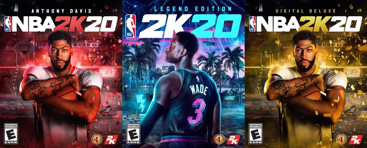 "Anthony Davis & Dwyane Wade Unveiled As ""NBA 2K20"" Cover Athletes"