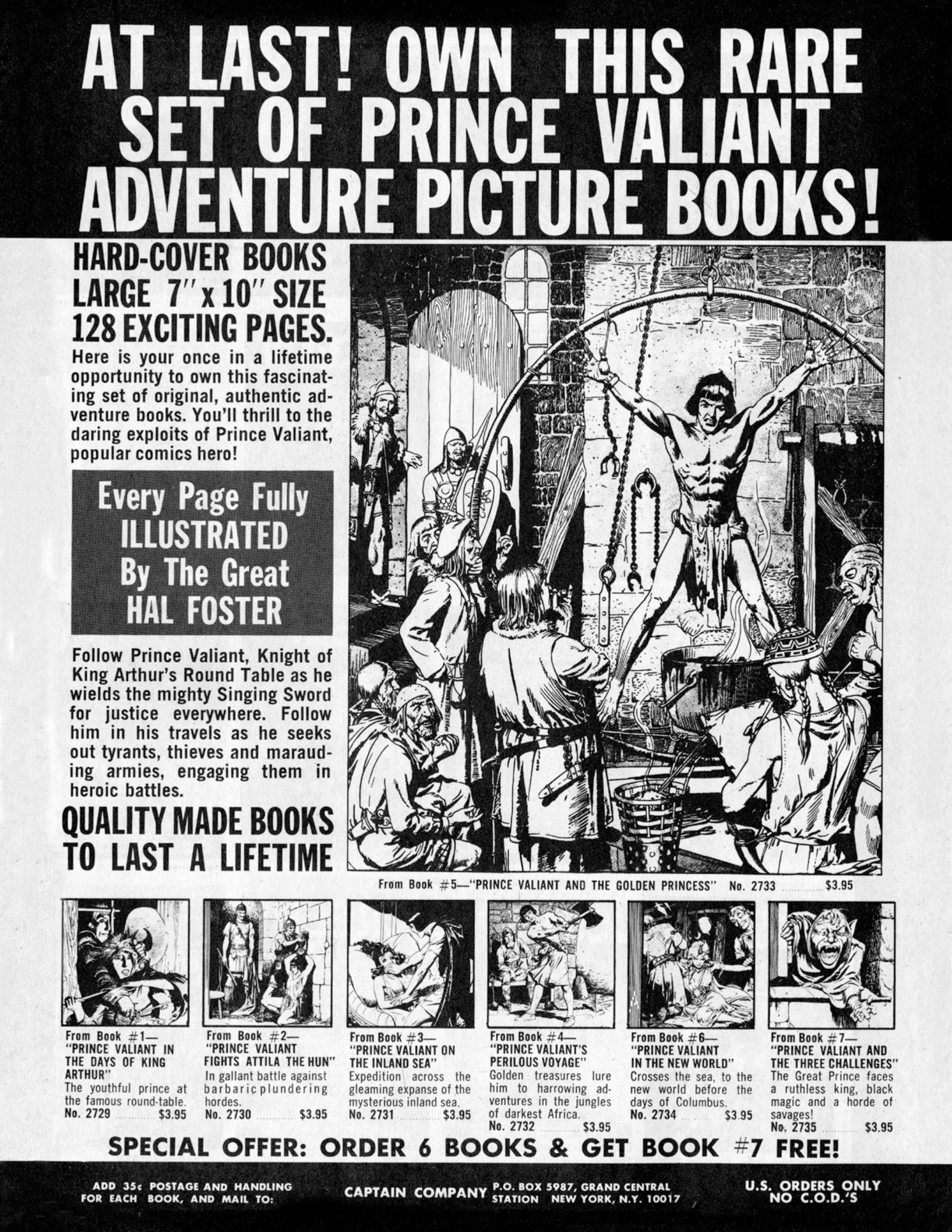 Creepy Back Issues, Conan Novels, and More Great 1969 Comic Ads from Vampirella #1 Replica Edition