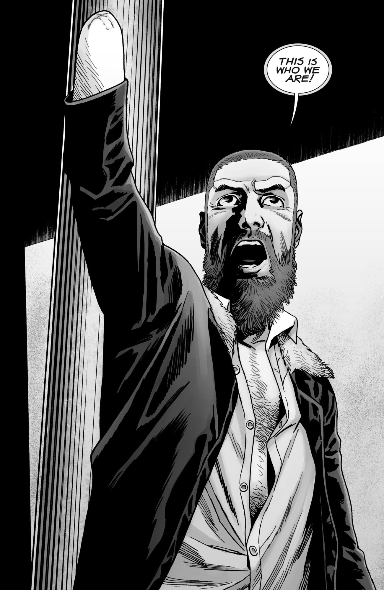 In The Walking Dead #193, Michonne Reads Off The Back Of The Collections (Spoilers)