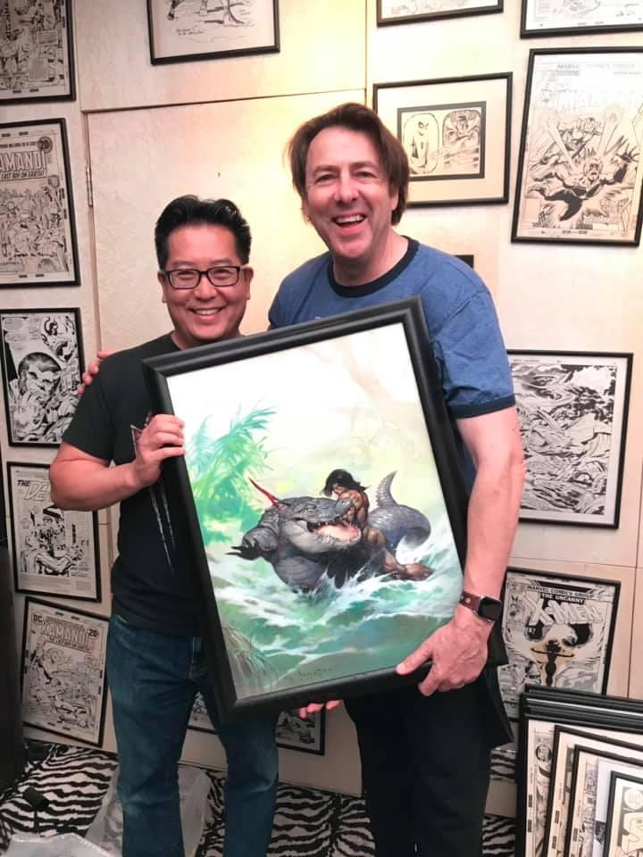 When Frank Cho Got to Hold Jonathan Ross's Frank Frazetta Original Art