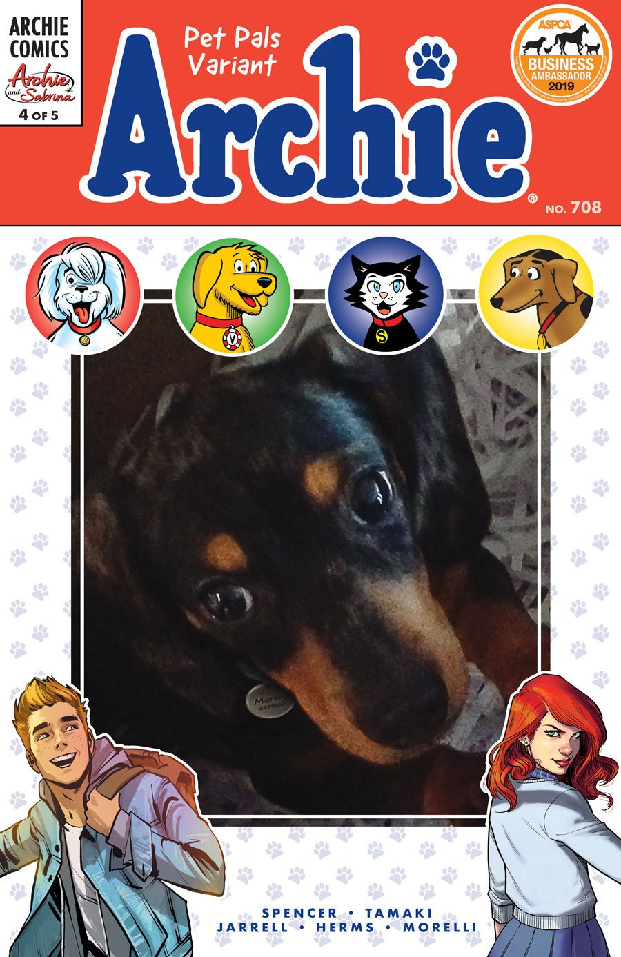 The Pet-Friendly Archie Comics Variant Charity Cover