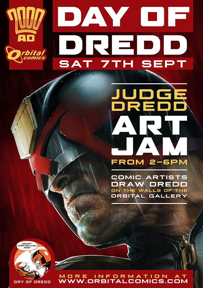 All the #DayOfDredd Events We Can Find Across the World Tomorrow