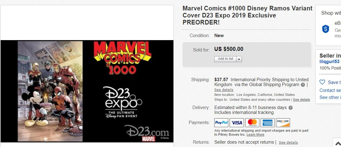 How D23 Affected the Comic Book Market on eBay
