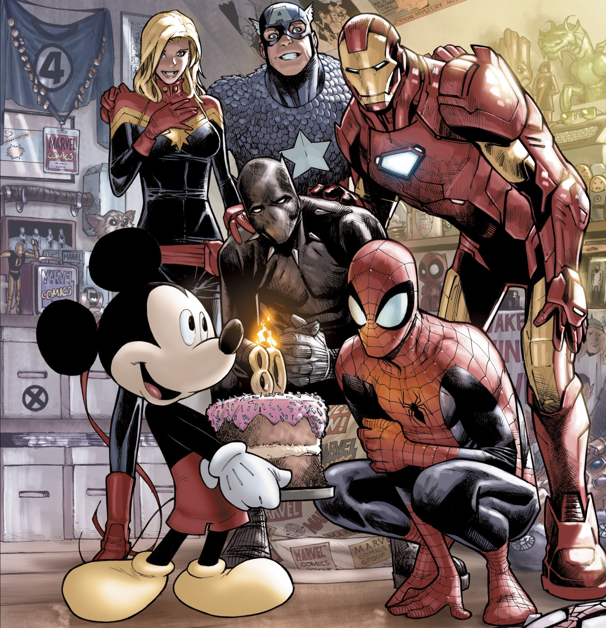 First Official Mickey Mouse in the Marvel Universe For D23