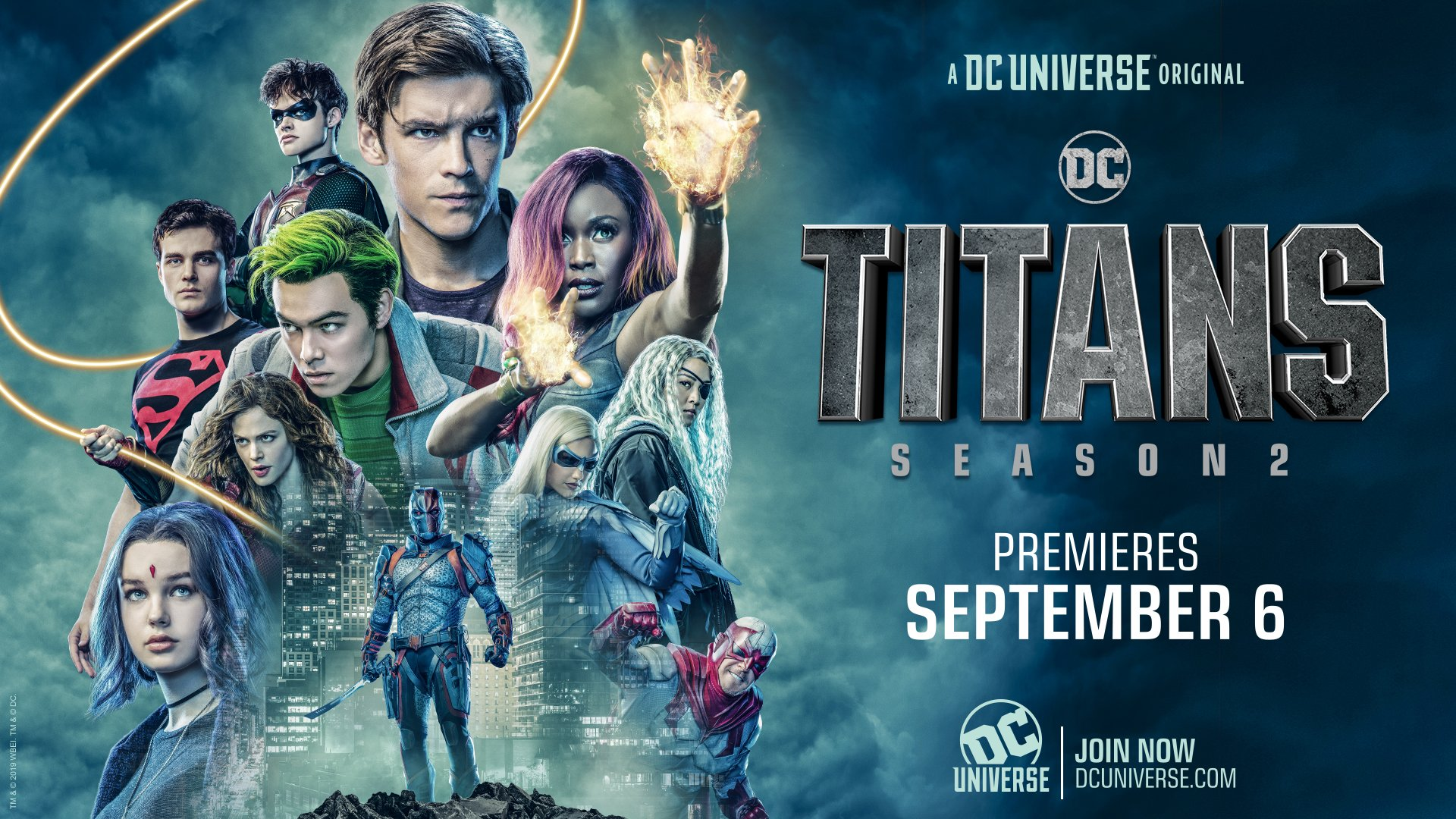 Titans Season 2 Poster Banner Deathstroke No Unicorn Horn Images