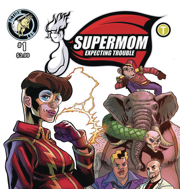 """When a Pregnant Superhero Has to Fight the Baby's Father… """"Supermom Expecting Trouble"""" Launches in Action Lab December 2019 Solicitations"""