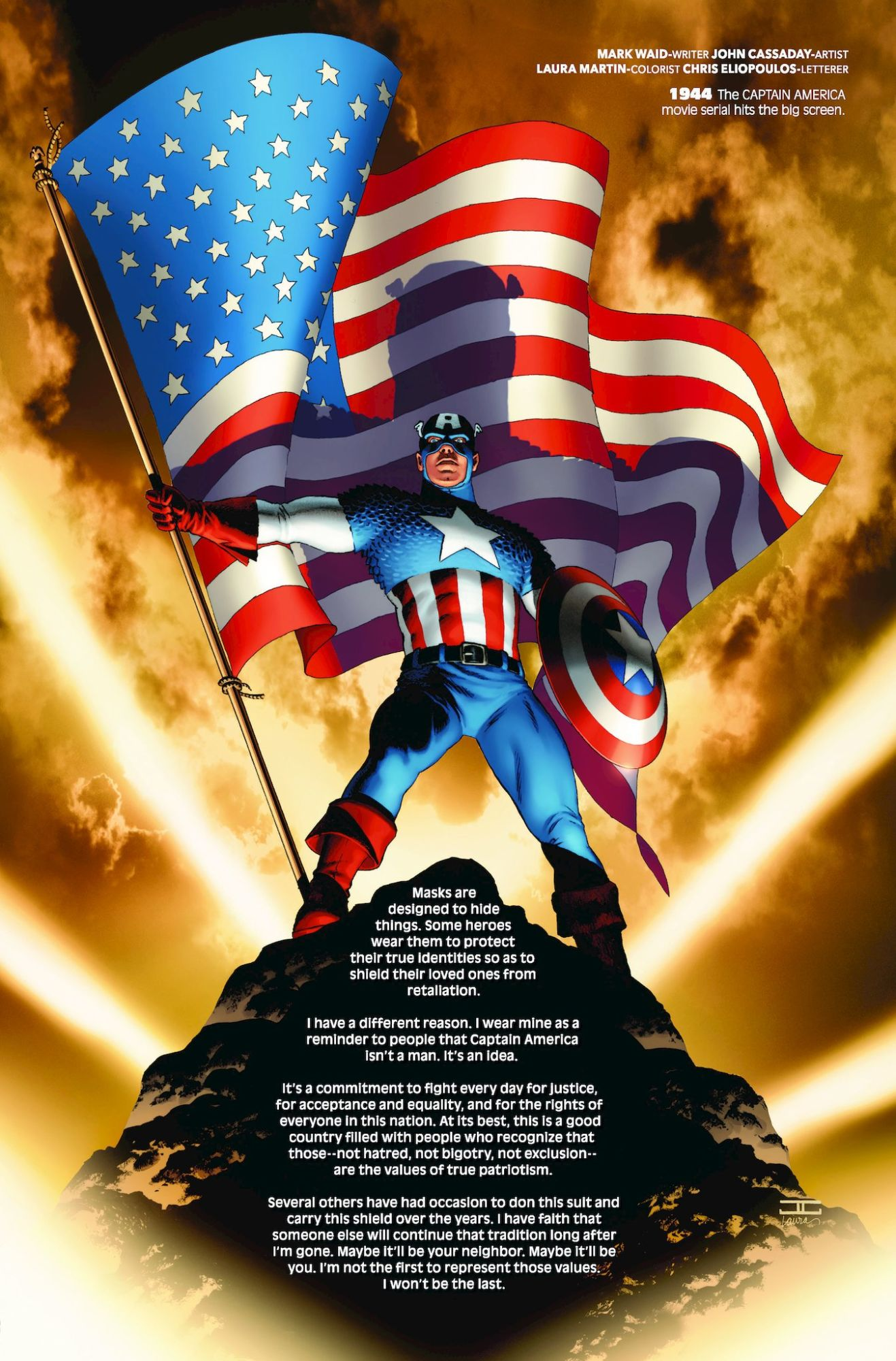 Marvel Stopped the Presses to Remove Mark Waid's Captain America Essay From Marvel Comics #1000