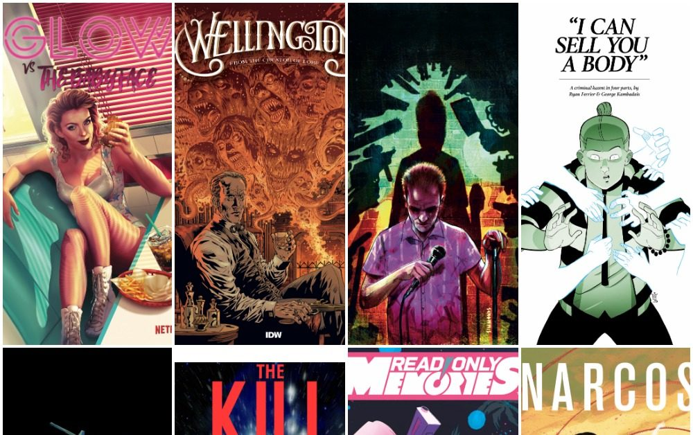 IDW's December 2019 Solicits Launch Wellington, Dying Is Easy, I Can Sell You A Body, Kill Lock, Narcos, Read Only Memories
