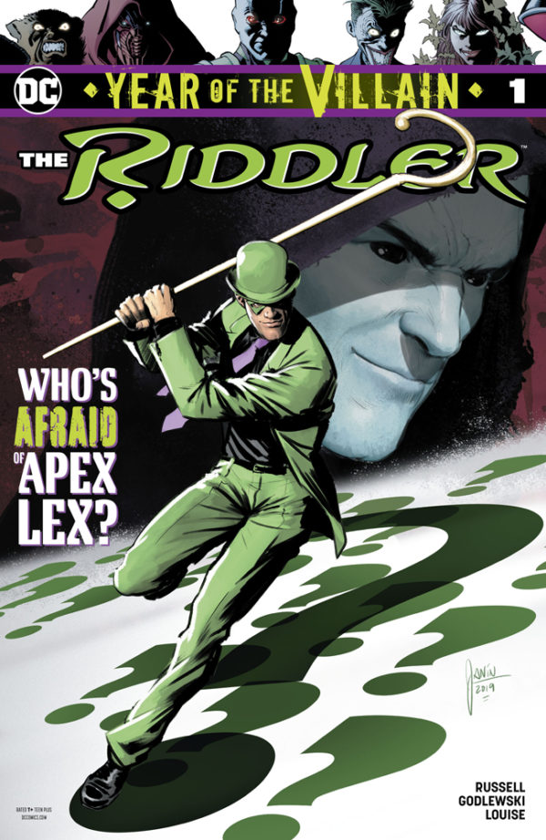 Capa de Riddler Year of the Villain por Mikel Janin.
