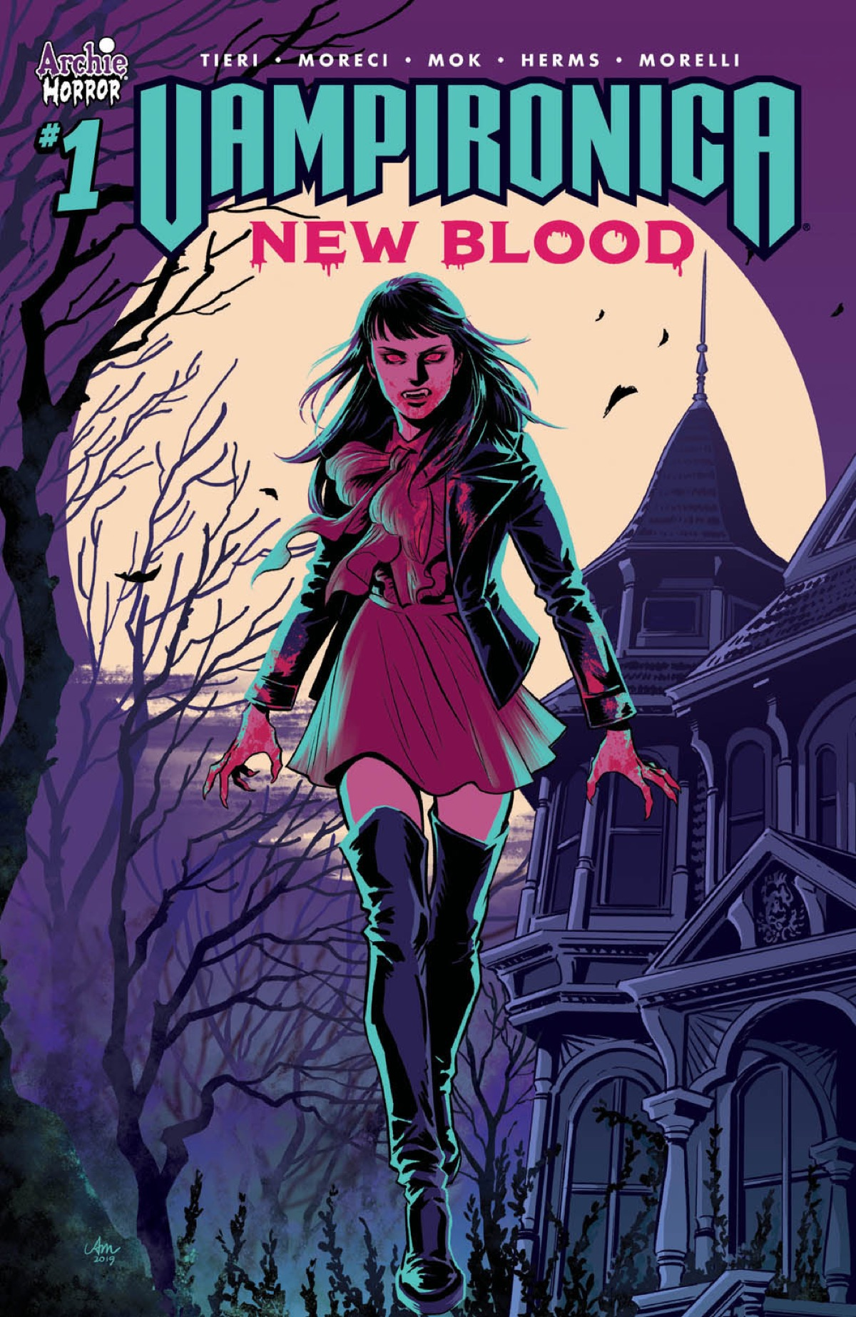 Vampironica Returns in December in New Blood by Frank Tieri, Michael Moreci, and Audrey Mok