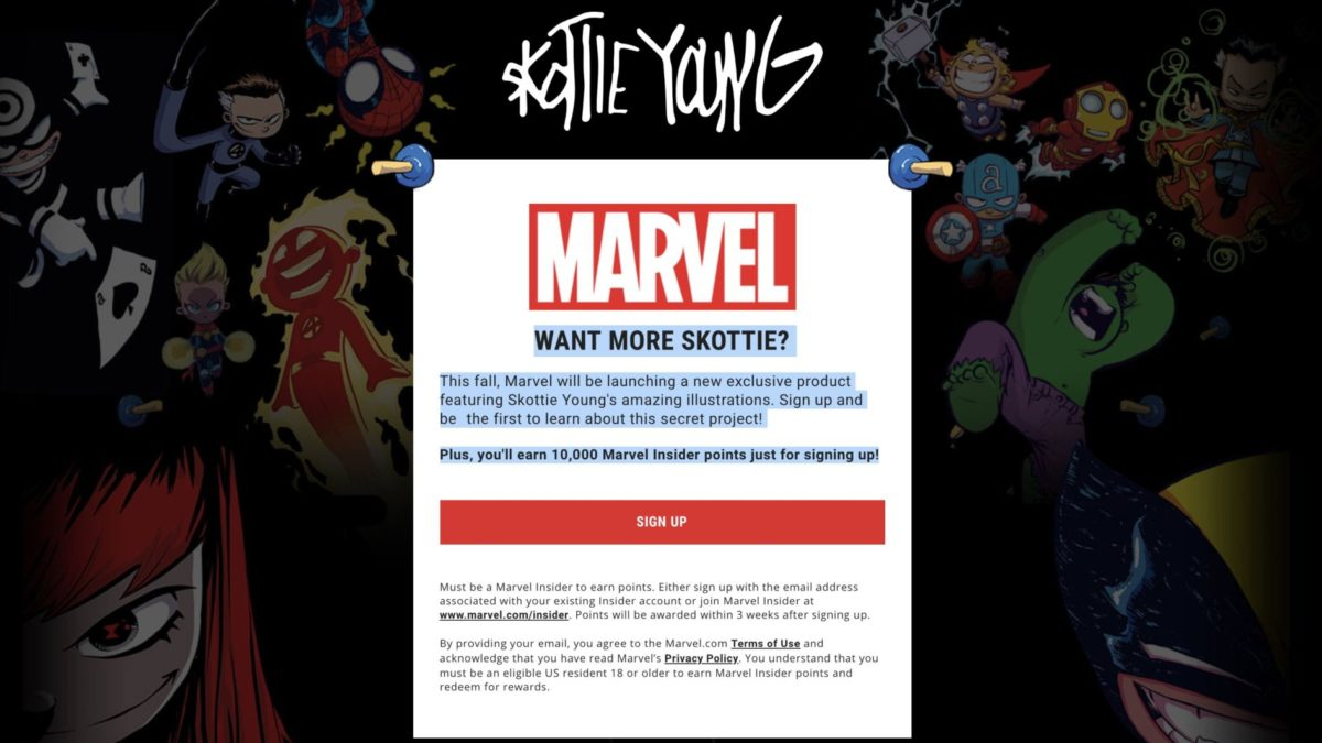 Marvel Has a Secret Skottie Young Project Page... What Are They Hiding?!