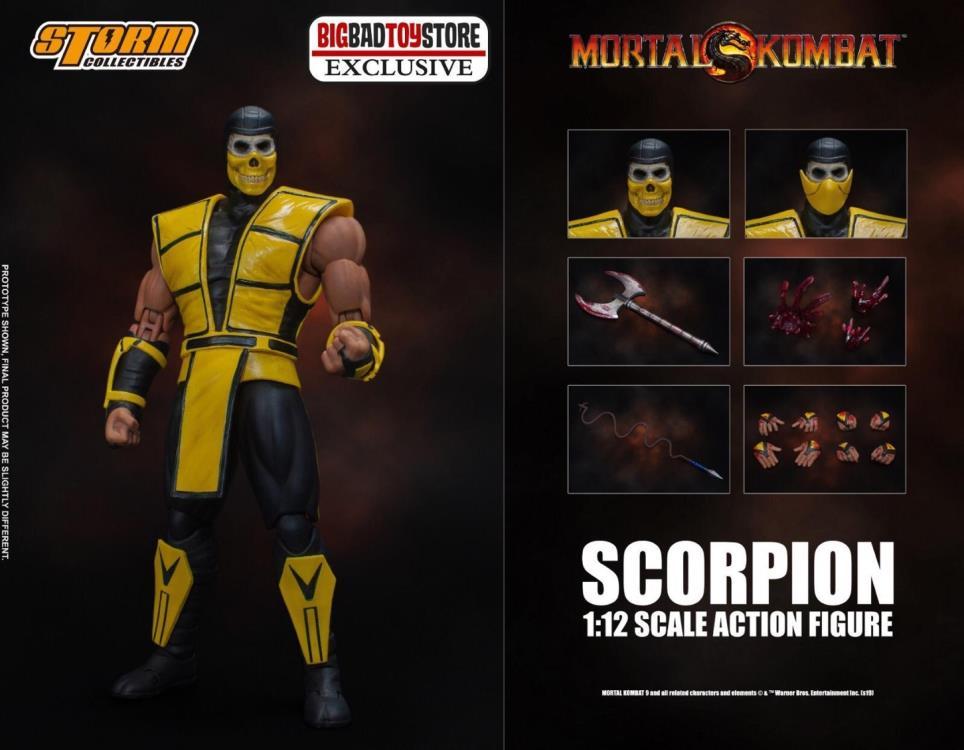 "Scorpion Shows His True Face In New BBTS Exclusive ""Mortal Kombat"" Figure"