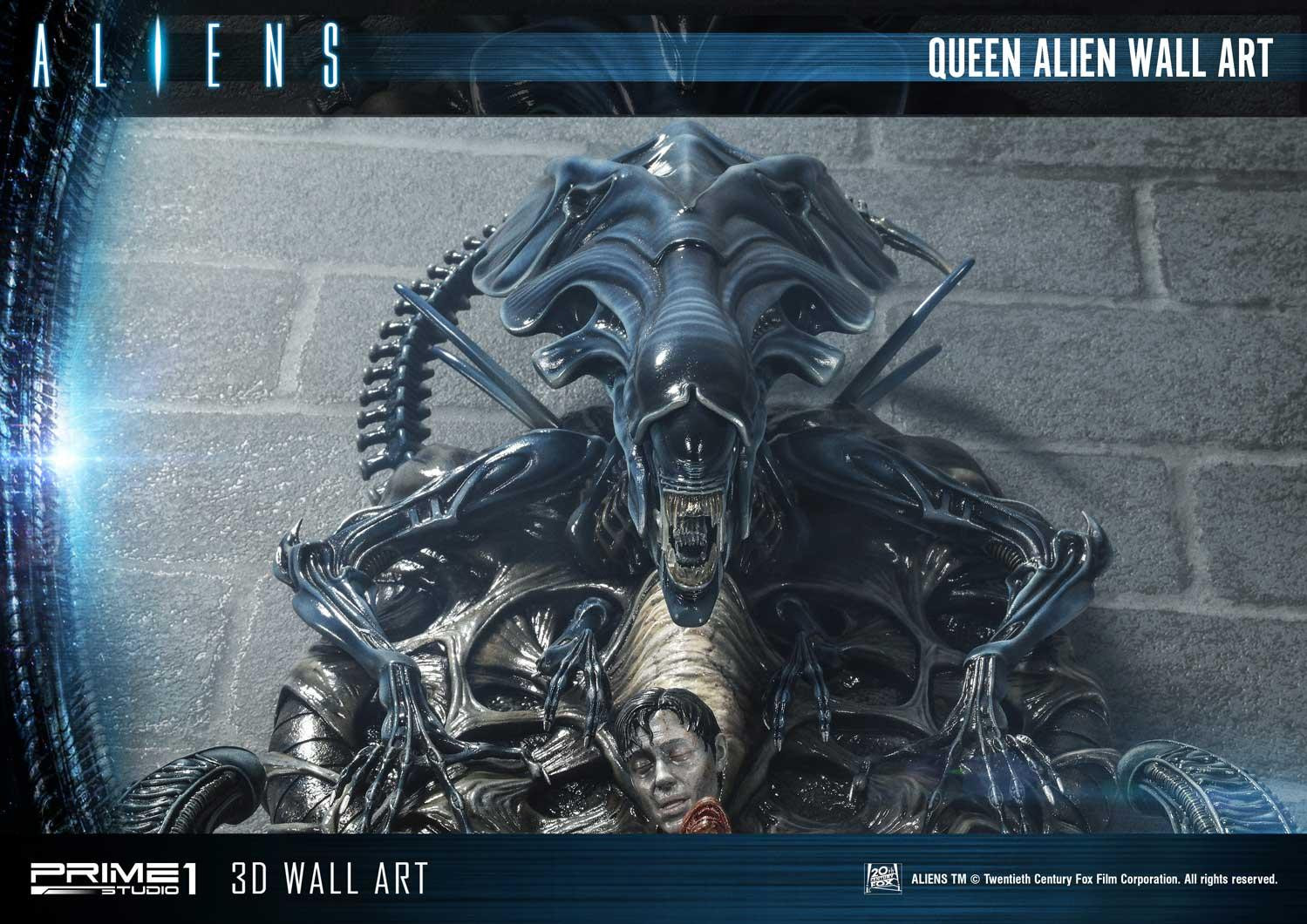 Alien Queen Wall Art Unveiled by Prime 1 Studio Bursts with Detail